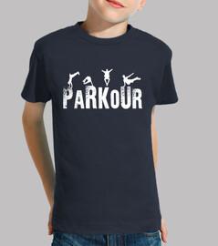 Parkour Niño, manga corta, azul marino