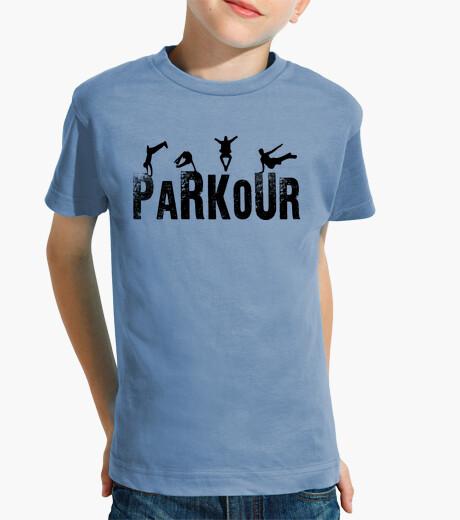 Ropa infantil Parkour Niño, manga corta, celeste
