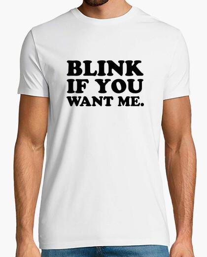 Camiseta parpadea si me quieres