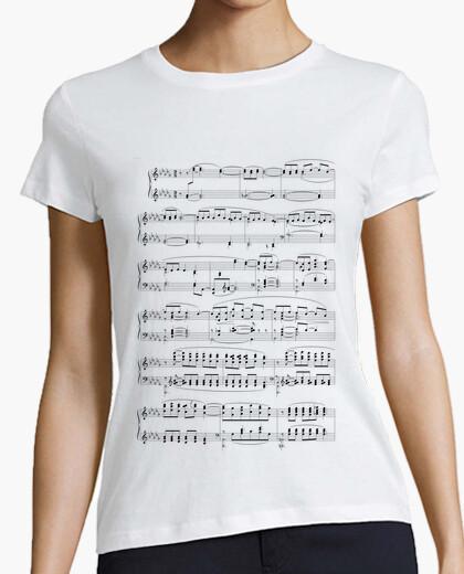 Camiseta Partitura Blanco Mujer