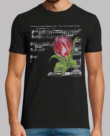 Partitura y Tulipan / Musica / Flor / B