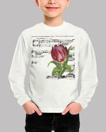 Partitura y Tulipan / Musica / Flor / N