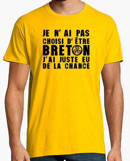 Tee-shirt Pas choisi etre Breton juste eu Chance