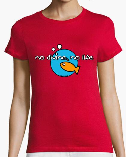 Tee-shirt pas de plongée pas de vie femme