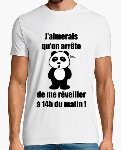 Tee-shirt Pas du matin - Panda