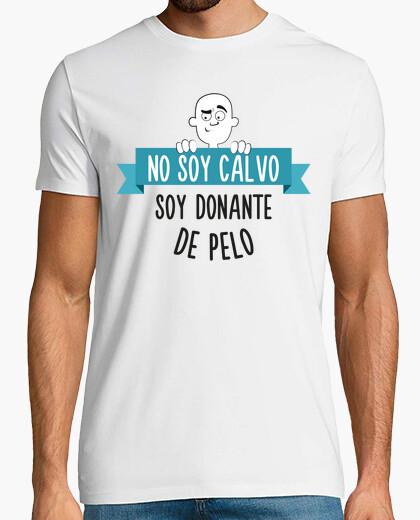 Tee-shirt pas suis chauve suis cheveux donateurs (fond clair)