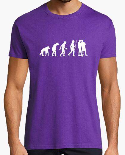 Camiseta paso de la evolución de los pares gay
