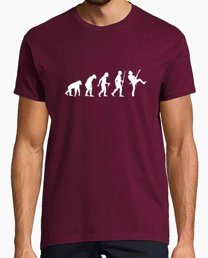 T-shirt passo di evoluzione della chitarra
