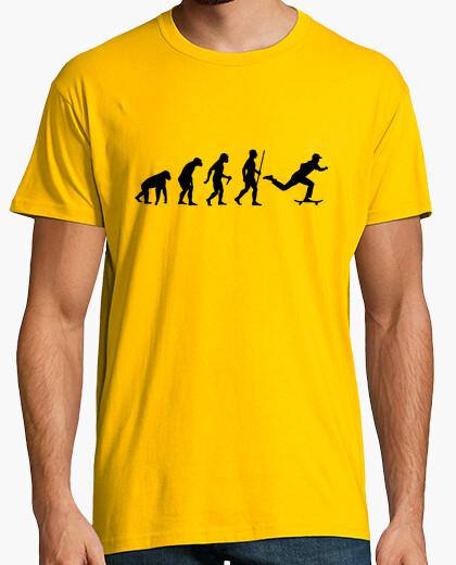 T-shirt passo di evoluzione dello skateboard
