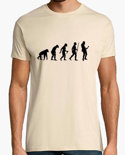 T-shirt passo di evoluzione rock di chitarra