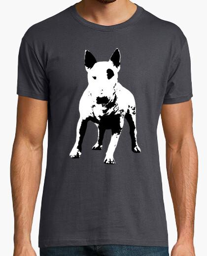 Tee-shirt patch bull terrier