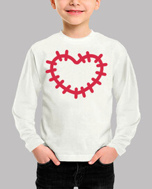 patch cuore rosso
