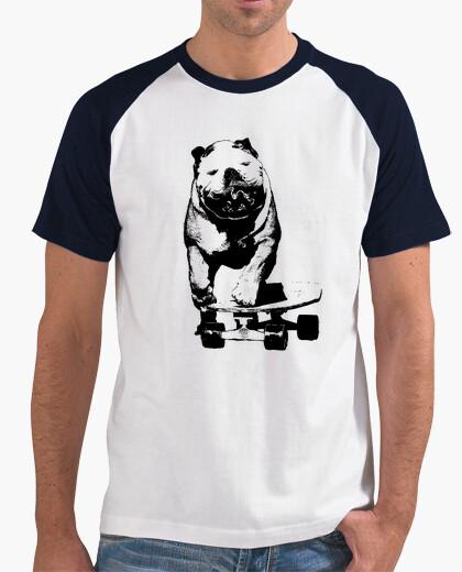 Tee-shirt patineur chien