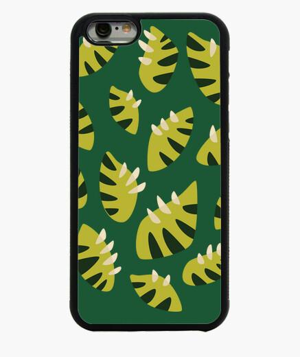 Funda iPhone 6 / 6S patrón de la hoja verde abstracta con garras