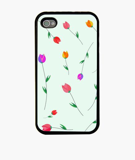 Funda iPhone Patrón de los tulipanes.
