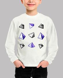 patrón de pirámide geométrica acuarela