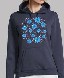 patrón floral azul suave