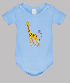 pattinaggio cute divertente cartoni animati giraffa