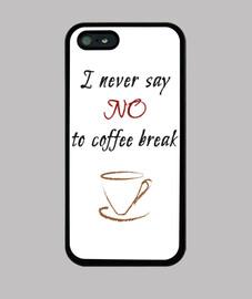 pausas para el café cubierta del iphone 5