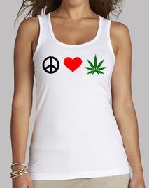 paz amor marihuana