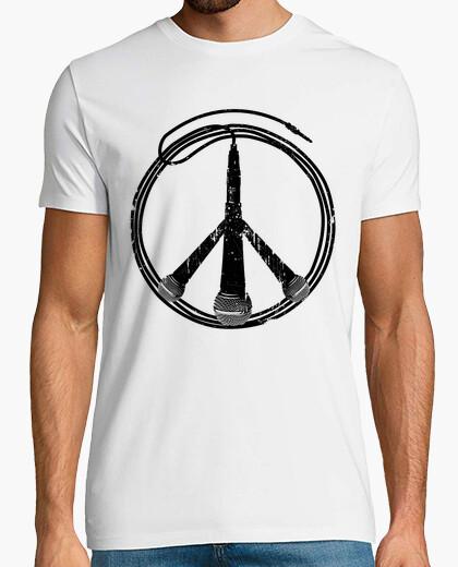Camiseta paz y música (negro)