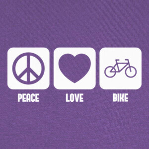 Peace, Love and Bike T-shirts