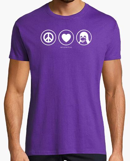 Camiseta peace love linux @shopbebote