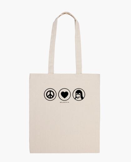 Peace love linux @shopbebote bag