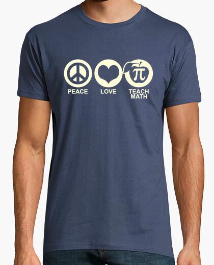 Camiseta Peace, Love, Teach Math