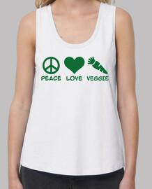 peace love veggie