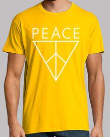 Peace Triángulo abajo (blanco)