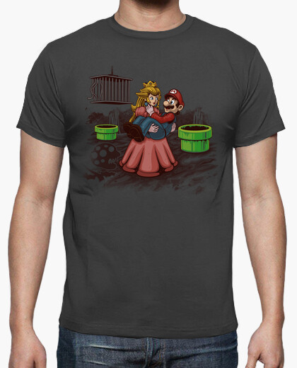 Peach, mario needs your help! t-shirt