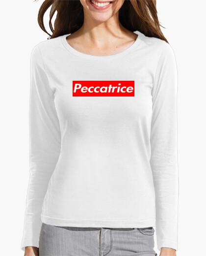 T-shirt Peccatrice - Maniche Lunghe Bianca