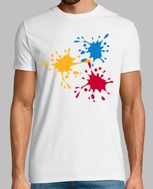 peintre d'éclaboussures colorées