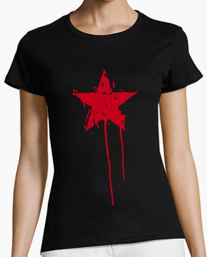 Tee-shirt peinture d39étoile rouge