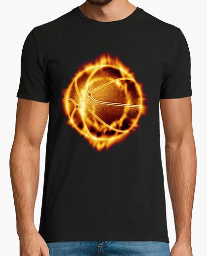 Camiseta Pelota de basket en llamas