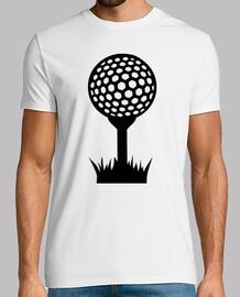 pelota de golf tee