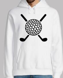 pelota de palos de golf cruzada