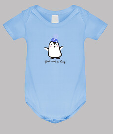 Penguin Body bebé, celeste