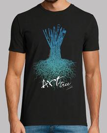 pennelli dell'albero / uomo, manica corta, nero, qualità extra