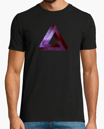Tee-shirt Penrose triangle infini - violet