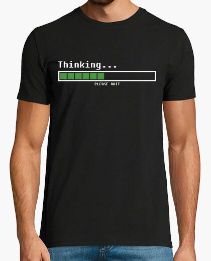 Tee-shirt penser ... s'il vous plaît attendre (homme)