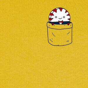 Camisetas Peppermint butler in a pocket