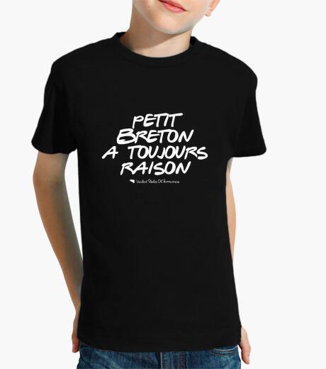 Ropa infantil pequeña breton siempre tiene la razón - camiseta de niño