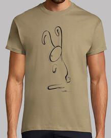 pequeña camiseta de conejo negro hombre