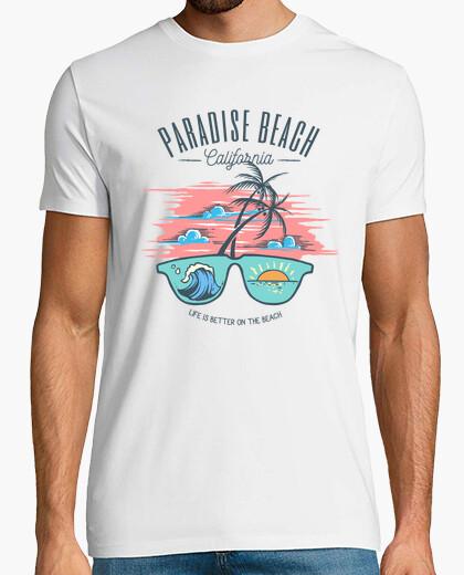 T-shirt per beach delogo