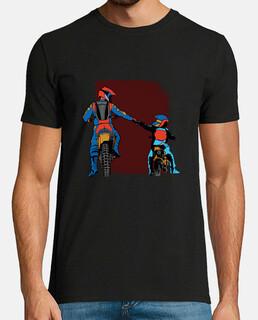 père et fils motocross