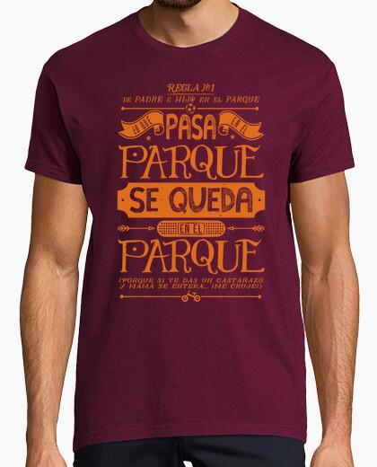 Tee-shirt Père et fils: règle n ° 1 - orange