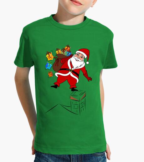 Vêtements enfant père noël avec des cadeaux