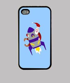 Père Noël sur sa fusée
